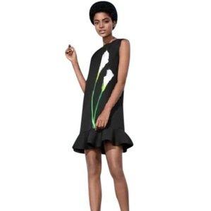 Victoria Beckham Lily Trumpet Hem Ruffle Hem Dress